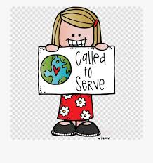 cartooon girl with a calling to serve