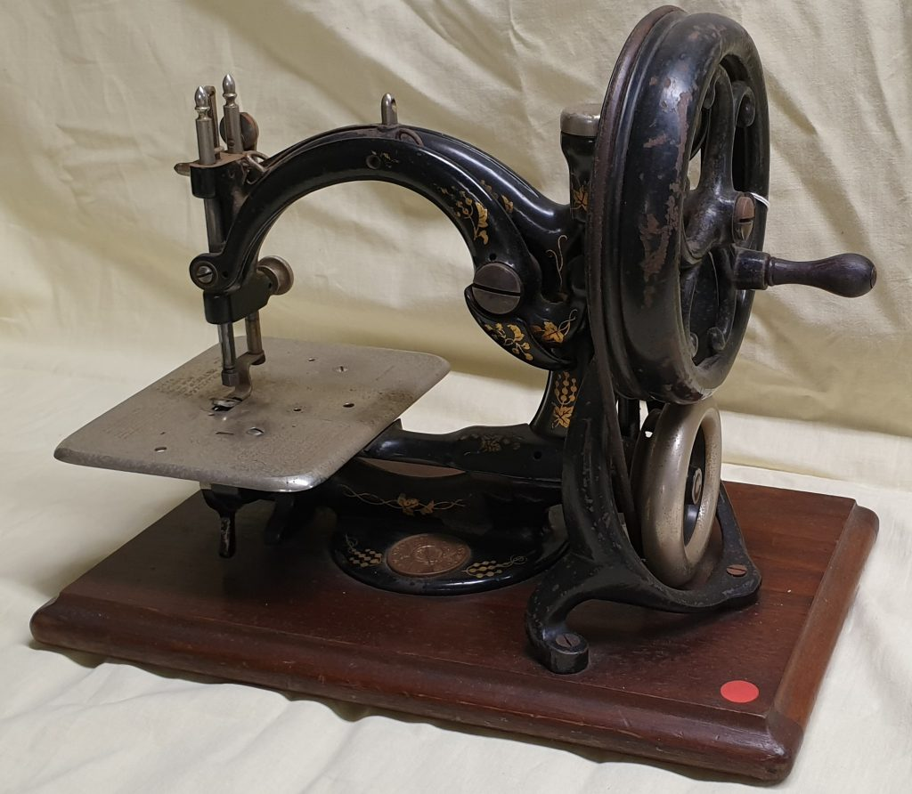 Old hand-operated sewing machine